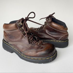 DR. MARTENS Chunky Lace Up Boots Leather England 8